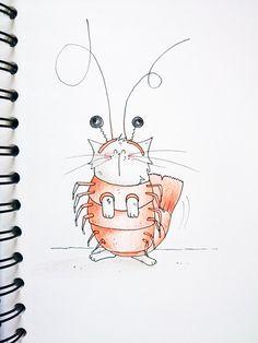mon chat est une crevette ! // the dream of my cat : becoming a shrimp !