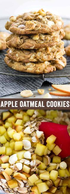 Apple oatmeal cookies will certainly satisfy your snack cravings this holiday season. This delicious recipe is made using fresh Fuji apples, whole wheat flour, peanuts, white chocolate chips and a little bit ofcinnamon for a tasty combination. via @foodiegavin