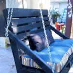 Outdoor Pallet Projects Pallet Swing Bench - You can hang a pallet porch swing from the ceiling and enjoy a quite morning coffee. Dangle a pallet swing bench from a sturdy tree in the yard so the kids can