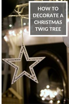 Lots of tips, tricks and ideas on how to decorate your Christmas Twig Tree and get is absolutely right! Twig Christmas Tree, Twig Tree, Scandinavian Christmas, Scandinavian Living, Family Christmas, Vintage Christmas, Christmas Table Settings, Outdoor Christmas Decorations, Christmas Themes