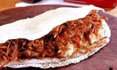 Tapioca com carne de sol COZIDA NO LEITE//
