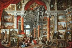 Giovanni Paolo Panini (1692–1765) . Picture Gallery with Views of Modern Rome   Date1757Mediumoil on canvasDimensionsHeight: 170 cm (66.9 in). Width: 245 cm (96.5 in).Current location  Museum of Fine Arts, Boston