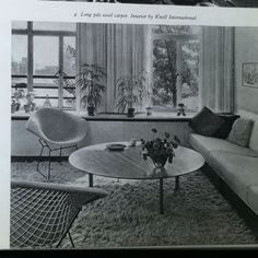 Decoration - Connaissance Des Arts 1963 'Interior by Knoll International'