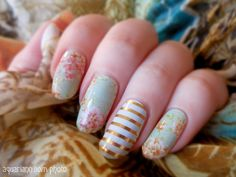 Manicure Monday: Floral Nail Art by Jamberry Nails