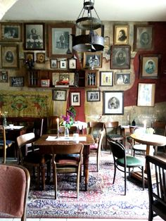 Mleczarnia - Kazimierz - Krakow. This is essentially a kazimierz place: coffee and tea, beer and vodka, coktails, cakes and small bites... all in an atmosphere that slows down time: sitting on old furniture, at small tables with embroidered tablecloths and candles spreading warm light, under photographs 80 years old. If you want to feel an unique atmosphere of old town, chat and people watch, you must visit this place!