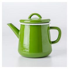 Basics Enamel Teapot Green