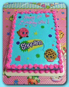 A Shopkins sheet cake :)