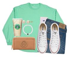 """""""My Lokai bracelet just broke!"""" by kaley-ii ❤ liked on Polyvore featuring Abercrombie & Fitch, Converse, Tory Burch and Lord & Taylor"""