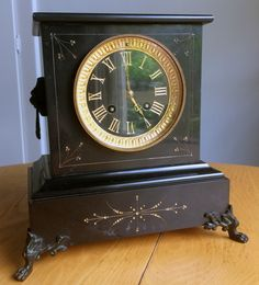 A Mystery Mantle Clock from my family. Classic Clocks, Mantle Clock, The Collector, My Family, Mystery, Antiques, Table, Vintage, Ebay