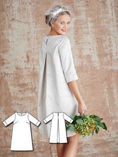 Short A-Line Dress 03/2016 #106 http://www.burdastyle.com/pattern_store/patterns/short-a-line-dress-032016?utm_source=burdastyle.com&utm_medium=referral&utm_campaign=bs-tta-bl-160314-ModernBrideCollection106
