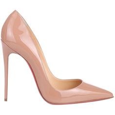 Pre-owned Christian Louboutin So Kate Patent Leather Heels (€425) ❤ liked on Polyvore featuring shoes, pumps, other, christian louboutin pumps, nude pumps, nude shoes, christian louboutin and pre owned shoes