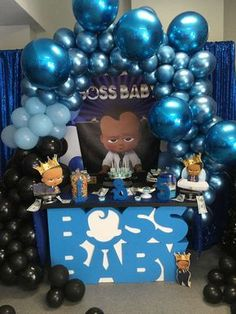 Cookieflavacreations 's Baby Shower / Boss Baby - Photo Gallery at Catch My Party Boss Birthday Gift, Boys First Birthday Party Ideas, 1st Boy Birthday, Boy Birthday Parties, Baby Shower Fall, Baby Boy Shower, Shower Party, Baby Shower Parties, Little Man Shower