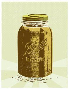 Mason Jar Art Print by Jonathan Steinberg Jonathan Steinberg, Mason Jar Art, Canning Jars, Adulting, Paradise, Vase, Art Prints, Artwork, Room