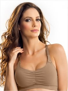 70bf850bff578 super comfy everyday nursing bra-857- Brown-MainImage Le Jolie