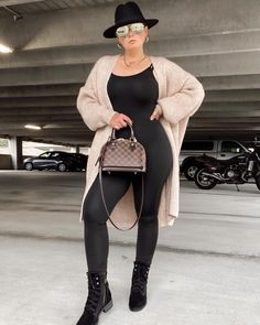 5 WAYS TO WEAR SPANX LEATHER LEGGINGS   THE RULE OF 5 Lv Boots, Spanx Leather Leggings, Louis Vuitton Boots, Plus Size Fall Outfit, Denim Handbags, Autumn Winter Fashion, Winter Style, Leggings Fashion, Casual Chic