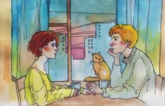 15 warm illustrations with a touch of romance St. Green Lamp, Kawaii Doodles, Illustration, Couple Art, Art Sketchbook, Anime Couples, Fantasy Art, Romance, Animation