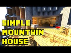 Minecraft - Simple Cliff Cave House Build Tutorial - HD Xbox/PS3/PE/PC - YouTube