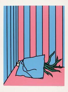 Patrick Caulfield Napkin and Onions screen print, 870 x 664 mm Digital Illustration, Graphic Illustration, Illustrations, James Rosenquist, Jasper Johns, Claes Oldenburg, Roy Lichtenstein, Photorealism, Print Artist