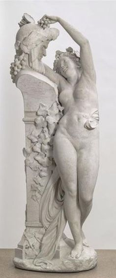 Albert-Ernest Carrier-Belleuse, The Bacchant, bought by Napoleon III, Paris, Orsay Museum. Napoleon Iii, Second Empire, Architectural Antiques, Catalogue, Musee Orsay, Les Oeuvres, Terracotta, 19th Century, Bronze