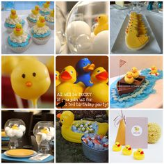 Rubber ducky birthday party...ideas could also be used for a super-cute baby shower