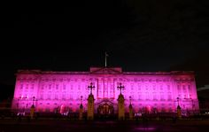 Getty Images - Buckingham Palace turned pink for Breast Cancer Campaign on 1st October 2012 #pinklondon
