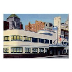 Old Photos of Cincinnati Ohio | Cincinnati Ohio Greyhound Bus Station Posters