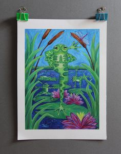 Hey, I found this really awesome Etsy listing at https://www.etsy.com/uk/listing/528160156/yoga-frog-acrylic-painting-giclee-print