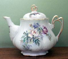 Ashley 5 Cup Hand Decorated Porcelain Teapot - Aurora - Hand Decorated Teapots - Roses And Teacups