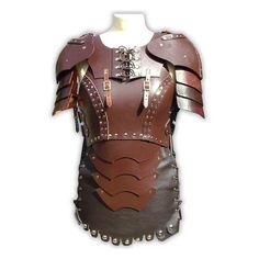 Armour inspiration (female) Larp ❤ liked on Polyvore featuring armor, armour, weapons and leather