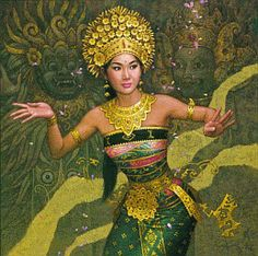 Beautiful Traditional Balinese Dancer Painting | #Bali , #Indonesia , #SouthEast #asia