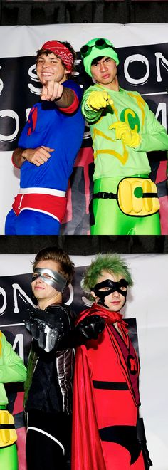 Ashton: *GIGGLES* Calum: Shut up and point Irwin. Luke: This is sooo funny! Micheal:*looks like a typical superhero*