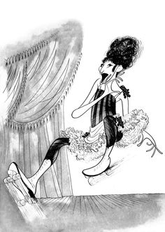Funny Girl: Barbra Streisand Hand signed by Al Hirschfeld Limited-Edition Etching Edition Size: 150 x Caricature Artist, Girl Artist, Celebrity Caricatures, Barbra Streisand, Black And White Portraits, Girl Humor, The Funny, Cool Art, Awesome Art
