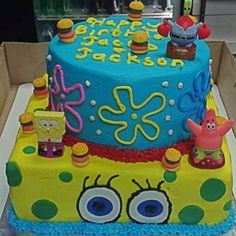 Spongebob smash cake Kraby Patties cupcakespopscakescookies