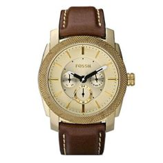 Fossil Machine Leather Vintage Bronze Multifunction Mens Watch DE5015 Fossil. $118.98. Pink Leather Strap. Chronograph Display