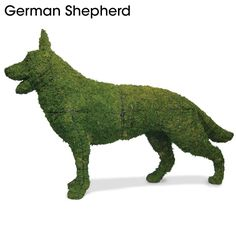 Because you know you've always wanted a dog made of grass in your front yard. Oh, Hammacher Schlemmer. /Mikel