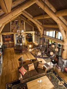 Traditional Spaces Log Cabin Chinking Design, Pictures, Remodel, Decor and Ideas - page 47