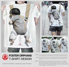 Bureau of Civil Affairs: T-shirt design for orphans http://adsoftheworld.com/media/ambient/bureau_of_civil_affairs_tshirt_design_for_orphans