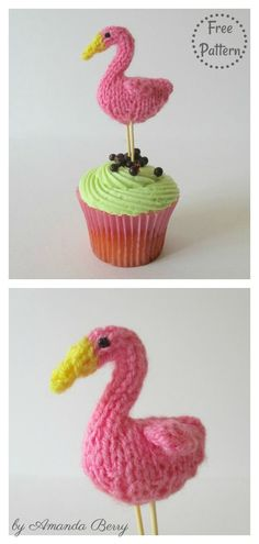 Teeny Flamingo Amigurumi Free Knitting Pattern