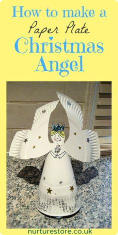 Paper plate Christmas angel {with template} - so sweet and easy to make.