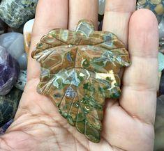 Rhyolite Jasper Leaf Gemstone Pendant Bead for a Crafting Jewellery Project. £6.00 Jasper Gemstone, Gemstone Beads, Leaf Pendant, Jewelry Crafts, Leaf Shapes, Craft Projects, Cool Gifts, Jewelry Design, Gemstones