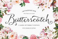 Butterscotch font on Kelly Jane Creative Font Fetish Friday http://kellyjanecreative.com/2015/02/27/font-fetish-friday-8/