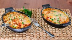 Gnocchi with Bacon, Tomato Sauce and Mozzarella - comfort meal at its finest.