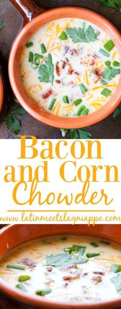 Bacon and Corn Chowder #SundaySupper
