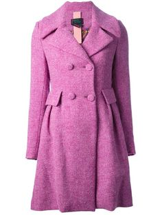 Femme By Michele Rossi Double Breasted Coat - - Farfetch.com
