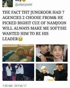 Yh ikr he found Rap Monster really cool <3 And of course everybody wants Jungkook! At age 14 he was so freaking talented!