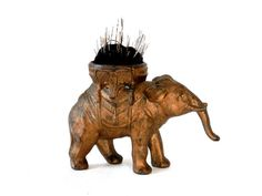 Antique Cast Metal Elephant Pin Cushion with Original Gold Paint Big Bang Zero via Etsy