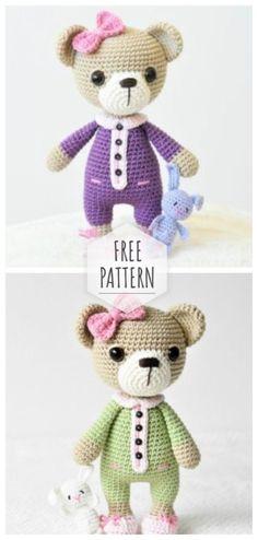 Mesmerizing Crochet an Amigurumi Rabbit Ideas. Lovely Crochet an Amigurumi Rabbit Ideas. Crochet Teddy, Crochet Bear, Love Crochet, Crochet Animals, Beautiful Crochet, Diy Crochet, Crochet Crafts, Crochet Dolls, Crochet Projects