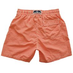 "Love Brand & Co.  Swimming trunks - ""Between the lines red"" Style"