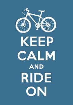 'Keep Calm and Ride On - slate grey', art print by Andi Bird  on artflakes.com