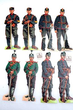Papiersoldaten Schweizer Uniformen 1930 - cyan74.com vintage & pop culture | SOLD